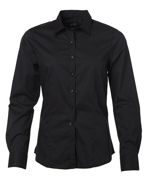 Ladies' Shirt Longsleeve Poplin XL-3XL