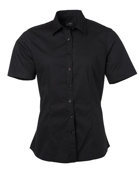 Ladies' Shirt Shortsleeve Poplin XL-3XL