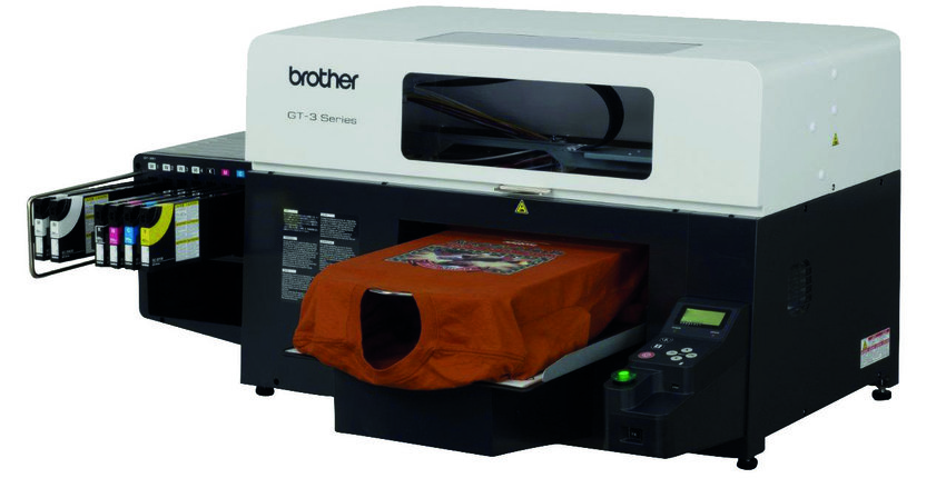 Brother GT361 direct to garment printer with white ink