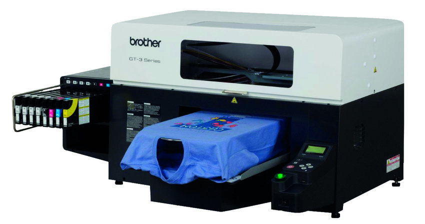 Brother GT381 direct to garment printer with white ink