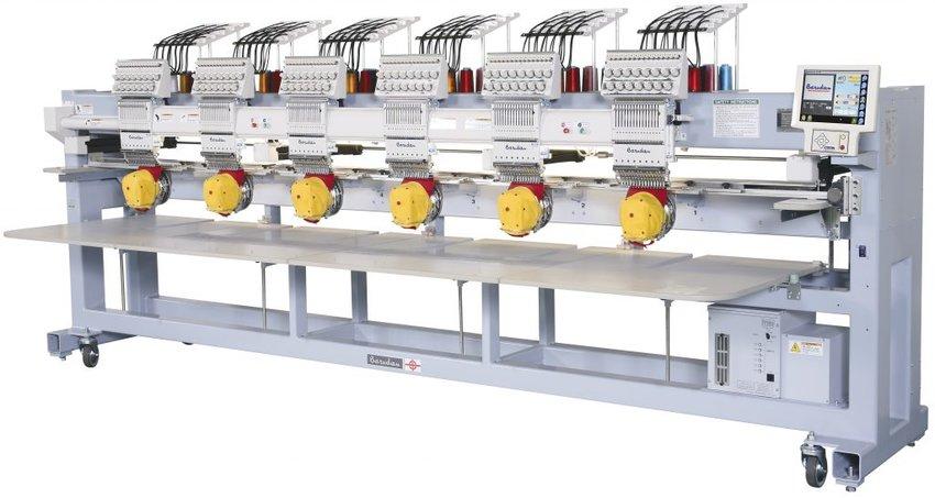 Barudan meerkopsborduurmachine met borduurafstand 520 mm