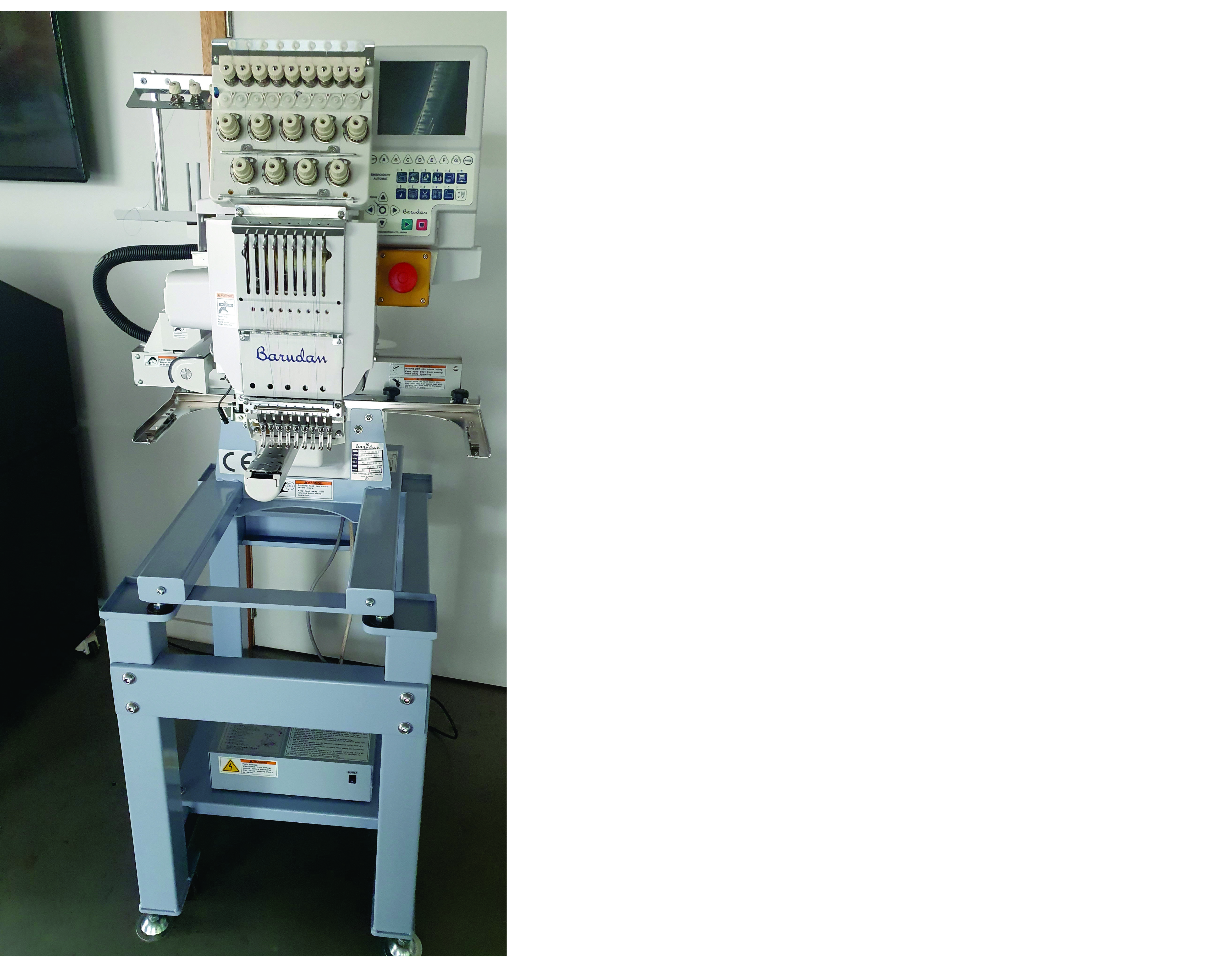 Barudan éénkopsborduurmachine met 9 naalden