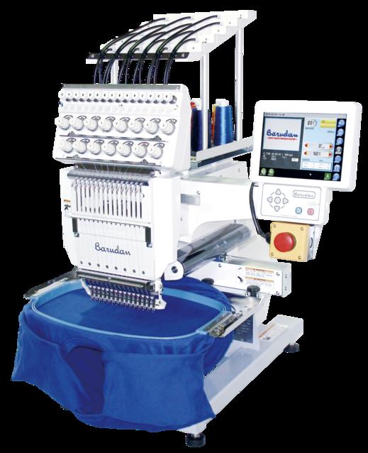 Barudan éénkopsborduurmachine met 15 naalden