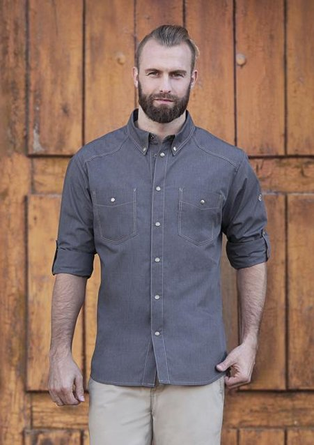 Button-Down Chef Shirt JEANS-STYLE