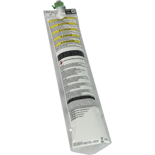 Set van 12 cartridges witte inkt voor Brother GTX : 12 x 700 cc
